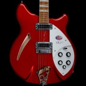 360 6-String Semi-Acoustic Electric Guitar in Ruby Red, 2017 Model