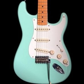 50's Classic Series Stratocaster in Surf Green Electric Guitar, Pre Owned