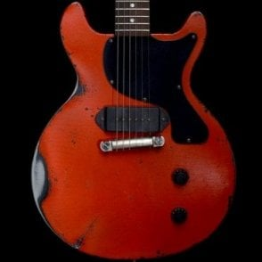 L Steel Paul Junior DC Cherry Red Steel Body Electric Guitar, Pre-Owned
