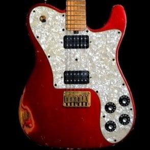 Vintage-T Ash Heavy Relic Maple Neck Electric Guitar, Double Burst