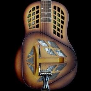 Resophonic Triolian Tri Cone Steel Resonator Guitar in Walnut Burst, Pre-Owned