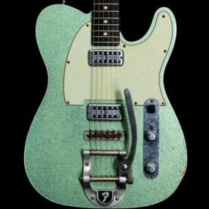 Custom Shop Sea Foam Green Sparkle Telecaster with Bigsby