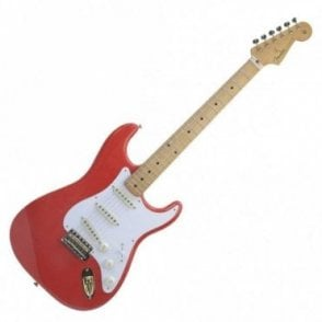 FSR '50s Stratocaster MN in Fiesta Red w/ Gold Hardware