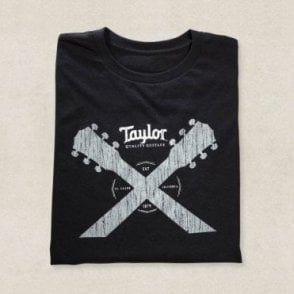 Double Neck T-Shirt In Black, Various Sizes