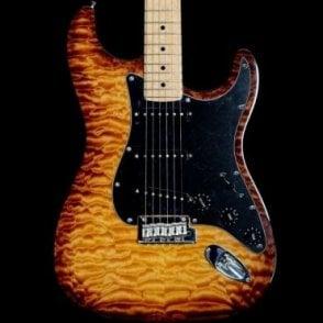 FSR Limited Edition Exotic Wood Mahogany Stratocaster, Violin Burst