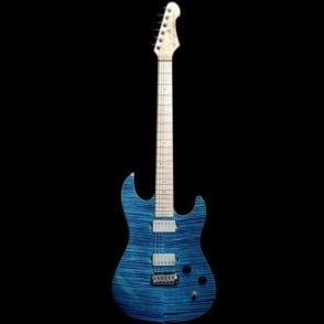 96 Drop Top Twin Electric Guitar in Trans Blue, Pre-Owned