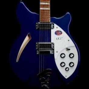 360 6-String Semi-Acoustic Electric Guitar in Midnight Blue, 2017 Model