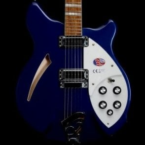 360 6-String Semi-Acoustic Electric Guitar in Midnight Blue, 2017 Model - #33799