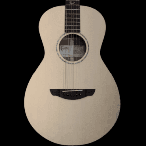 Naked Mercury Electro-Acoustic Parlour Shaped Guitar, Natural Finish B-Stock