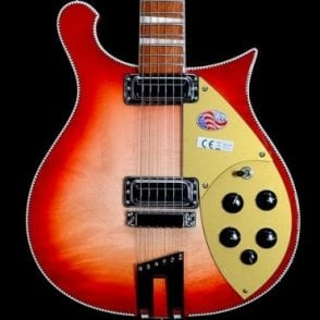 Rickenbacker 660 6 String Electric Guitar, Fireglo #1809699