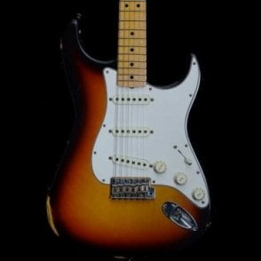 2018 Model Time Machine 1968 Relic Stratocaster, Faded 3-Colour Sunburst