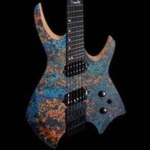 Goliath Multiscale 6 Electric Guitar Copper Graphic