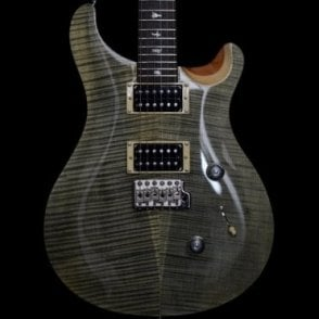 2018 Custom 24 Electric Guitar, Trampas Green, Natural Back