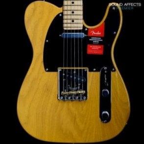 American Professional Telecaster, Butterscotch Blonde w/ Maple Fretboard