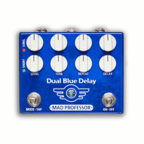 Dual Blue Delay Effects Pedal