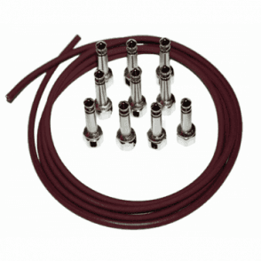 SIS Kit - 10ft Monorail (Burgundy) & 10 Screw In Solderless Right-Angle Plugs Bundle
