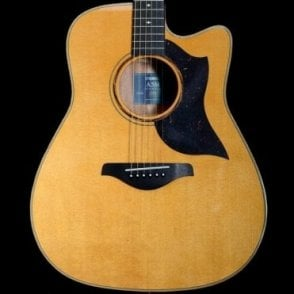 A5M ARE Dreadnought Electro Acoustic Guitar w/ Hard Case (Vintage Natural)