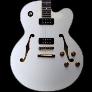 AES1500 Pearl Snow White Semi-Hollowbody Electric Guitar, B-Stock