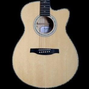 A50E Angelus Acoustic Guitar in Black Gold w/ Cutaway, Ex-Display
