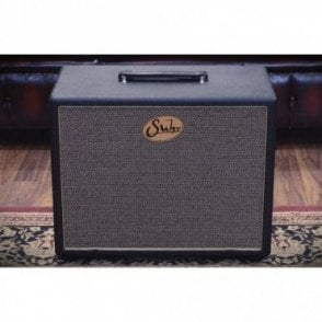 1x12 Loaded Extension Cabinet in Black with Gold Grill, Pre-Owned
