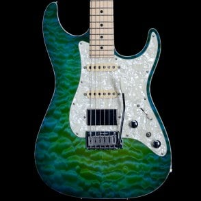 2012 Hollow Drop Top Classic Electric Guitar in Maui Kazowie, Pre-Owned