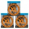 D'Addario Nickel Wound Electric Guitar Strings, Light Top/Heavy Bottom, 10-52 (3 Sets)
