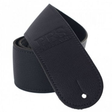 Logo Leather Guitar Strap Black