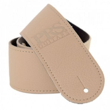 Logo Leather Guitar Strap Tan