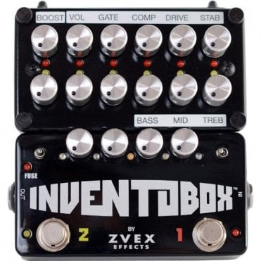 Zvex Inventobox Loaded with Fuzz Factory, Super Hard On & Tone Stack Effects Pedal