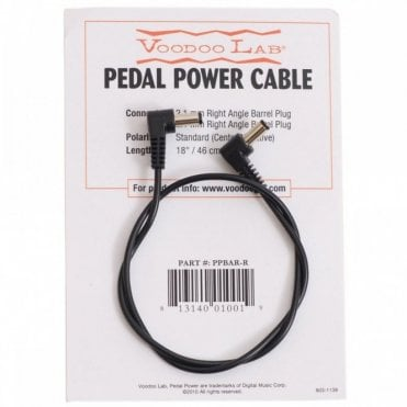 PPBAR-R 2.1mm Right Angle Barrel 9V Power Cable