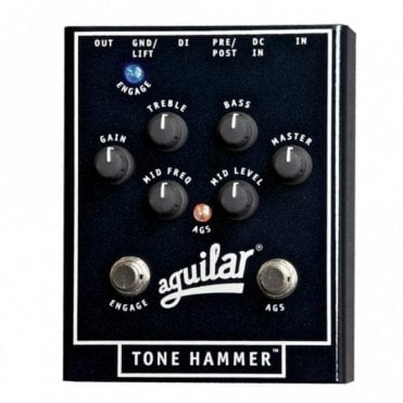 Tone Hammer Pre Amp Direct Box, Effects Pedal For Bass Guitar