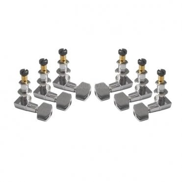Phase II Locking Tuners, Nickel (Set of 6) - ACC-4373