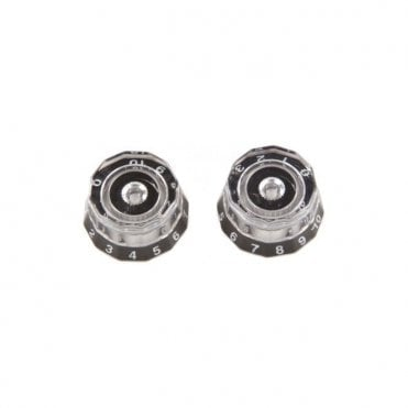 Spare - 513 Knobs , Clear/Black - ACC-4246