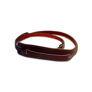 Maroon Leather Guitar Strap