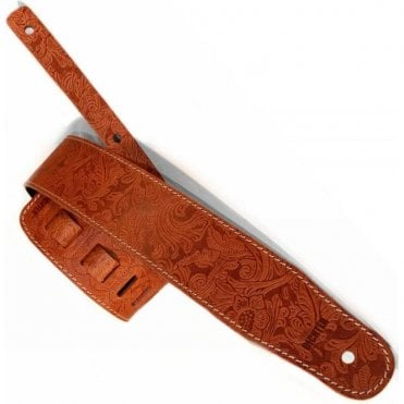 Richter Luxury Floral Tan Guitar Strap