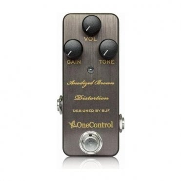Anodized Brown Distortion Guitar Effects Pedal - BJF Design