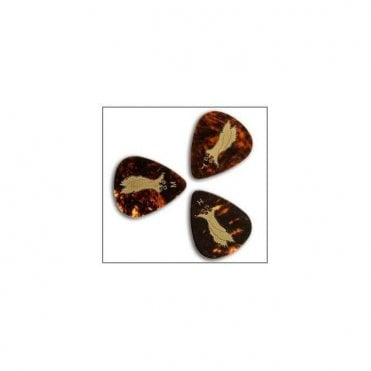 Tortoise Shell Celluloid Guitar Plectrums x12