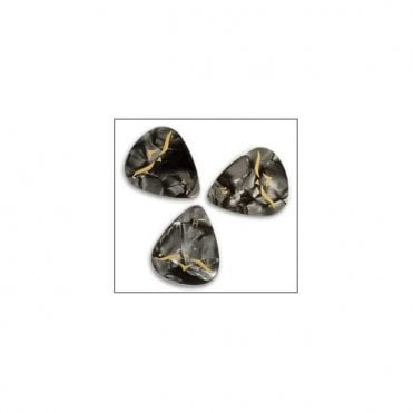 Black Pearloid Celluloid Guitar Plectrums x12