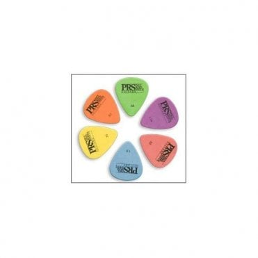 Delrin Coloured Guitar Plectrums x12