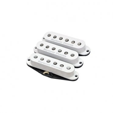 California '50s Set For Stratocaster In White SSL-1 Vintage Staggered