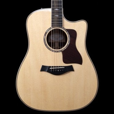 810ce Natural Dreadnought Electro Acoustic Guitar with Cutaway