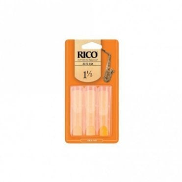 Rico Reeds - Alto Saxophone - Size 1 1/2 (3 PACK)