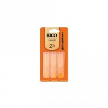Rico Reeds - Clarinet Bb - Size 2 1/2 (3 PACK)