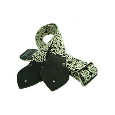 "Dog Days Black Mandala 2"" Guitar Strap"