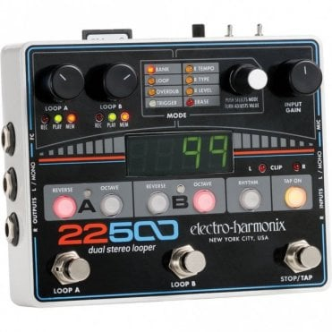 22500 Dual Stereo Looper for Guitar & Vocals