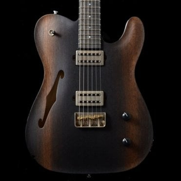 Oz Carve Top Semi Hollow With Bog Oak Top #17086