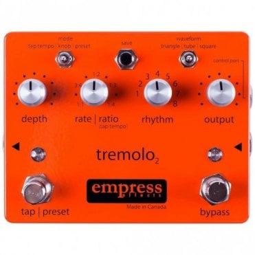 Tremolo 2 Pedal with Tap Tempo & Presets