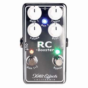 RC Booster V2 Clean Boost Pedal, Chrome Version 2