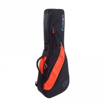 1/2 Size Classical Guitar Gigbag - Black / Orange (F4-02)