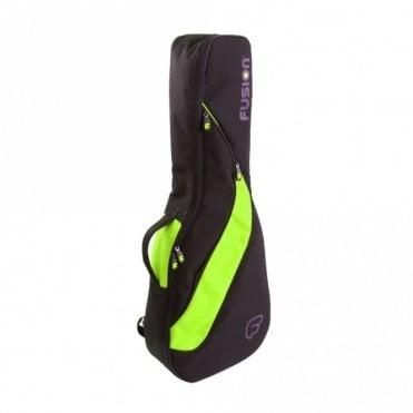 Classic Full Size Guitar Gigbag - Black / Green (F4-11)